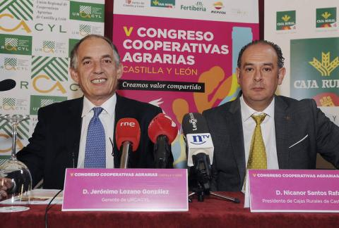 Jerónimo Lozano, en la presentación del V Congreso de Cooperativas Agrarias