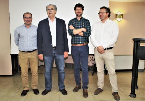Vicente Jimeno, Rafael Sánchez, Jose Manuel Domínguez y Juan Miguel Sánchez.