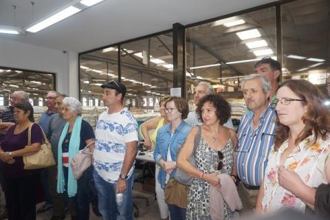 Visita de los ganaderos de la Cooperativa Pagesa de Pollença (Palma de Mallorca)
