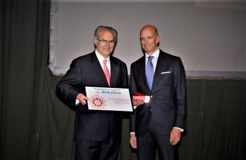 Rafael Sánchez Olea junto al viceconsejero de Economía y Competitividad de la Junta de Castilla y León.