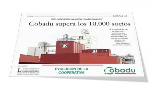 Recorte de la publicación del último artículo sobre la cooperativa en La Gaceta de Salamanca