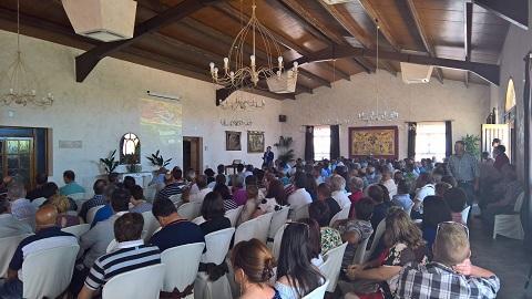 Socios de la comarca de Peñaranda se han reunido hoy en la Junta Preparatoria organizada para los socios de la zona.