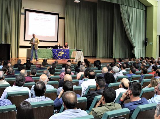 Jornada de Porcino en Zamora. Paraninfo Colegio Universtiario.