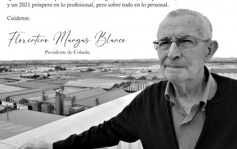 Florentino Mangas, presidente de Cobadu protagoniza el mensaje de la cooperativa de esta Navidad.