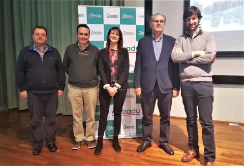 Elías Martín, Miguel Ángel, Teresa Enríquez, Rafael Sánchez y José Manuel Domínguez.